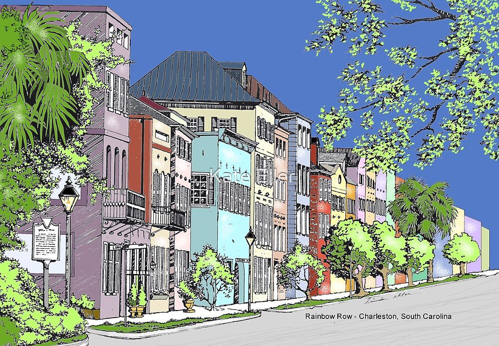 Rainbow Row - Charleston, South Carolina by Kate Eller