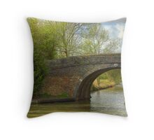 Bridge 41 Ashby Canal Throw Pillow