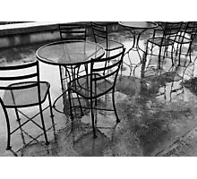 Rainy Day Cafe Photographic Print