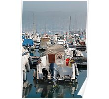 Boat at Trieste Marina Poster