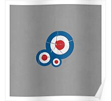 Cracked Mod Circles Poster