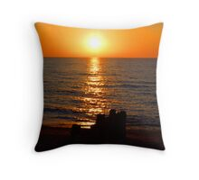 Light Trail Sunset Throw Pillow