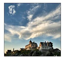 Monhegan Islands sky by Dave  Higgins
