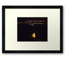 city lights. Framed Print
