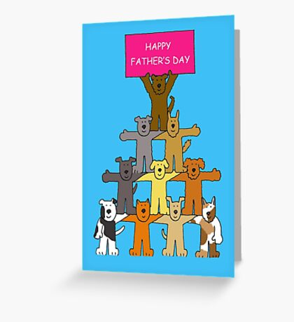 Happy Father's Day Dogs in formation. Greeting Card