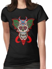 Undead Sugar Skull Womens Fitted T-Shirt