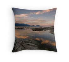 Diagonal Dusk Drifts Throw Pillow