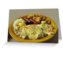 (✿◠‿◠) (◡‿◡✿My Breakfast @ Jiffy's Grill mm Good! (✿◠‿◠) (◡‿◡✿ Greeting Card