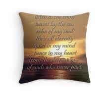 echo of my soul... Throw Pillow