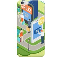 Isometric Virtual Shopping Concept iPhone Case/Skin