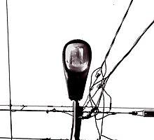 Street Light and Power Lines by Alejandro Martinez