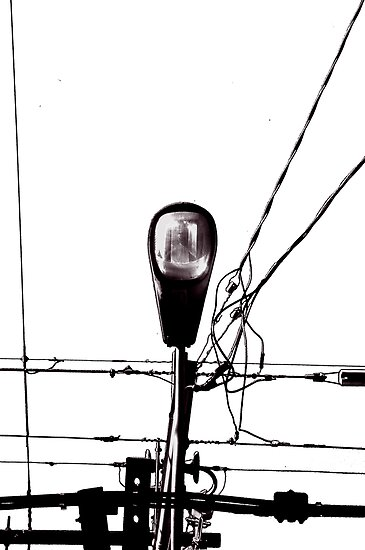 Street Light and Power Lines by Alejandro Martinez