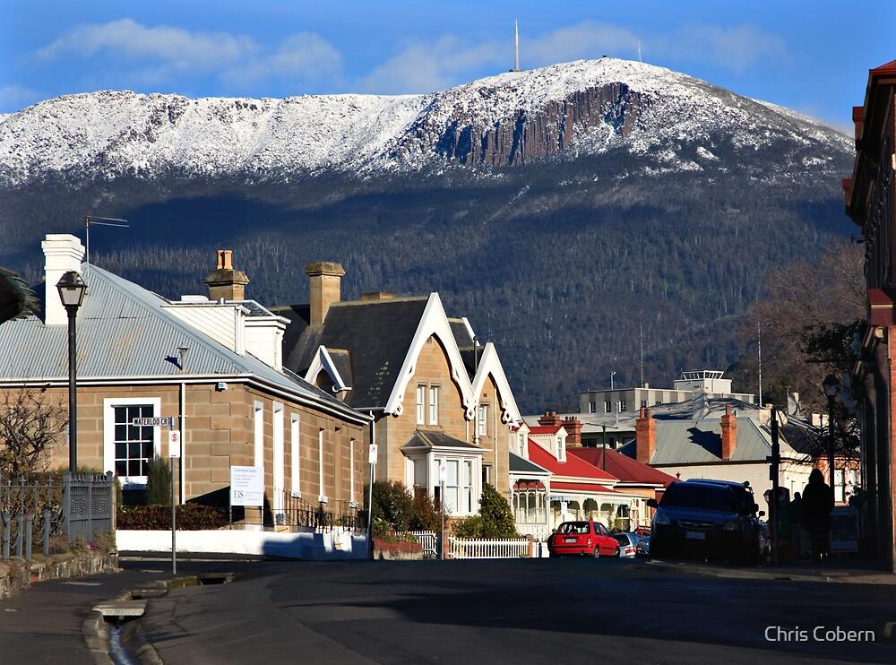 Mount Wellington in snow by Chris Cobern