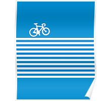 Blue Simple Bike Poster