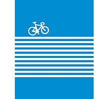 Blue Simple Bike Photographic Print