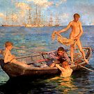 August Blue by Henry Scott Tuke by troycap
