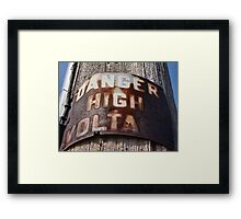 High Voltage II Framed Print