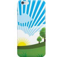 Green Grass Sunrise Landscpape iPhone Case/Skin