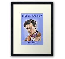 Doctor who birthday card Framed Print