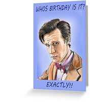 Who's birthday card Greeting Card