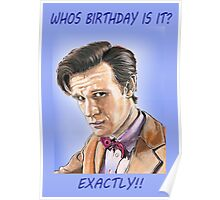 Doctor who birthday card Poster