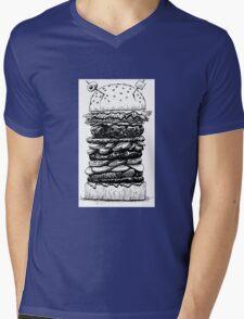 Hamburger Plus! Mens V-Neck T-Shirt
