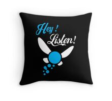 Hey Listen - Tshirts & Hoodies Throw Pillow