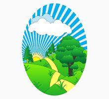 Green Grass Sunshine Elips PNG Unisex T-Shirt