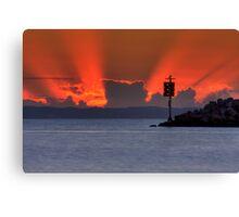 Dawn on the bay Canvas Print