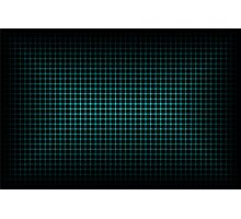 Optical Illusion Grid in Black and Neon Green Photographic Print