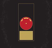 No003 My 2001 A space odyssey minimal movie poster by JiLong