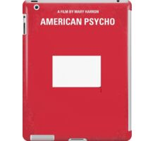 No005 My American Psycho minimal movie poster iPad Case/Skin