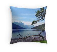 Upper Waterton Lake Throw Pillow