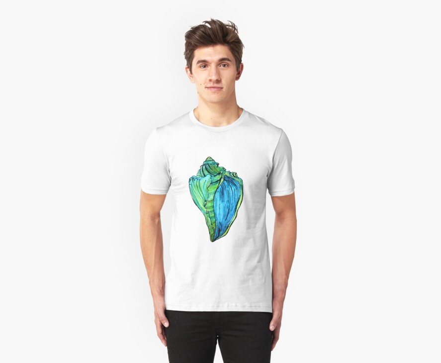Neon Conch Tee by cardiocentric