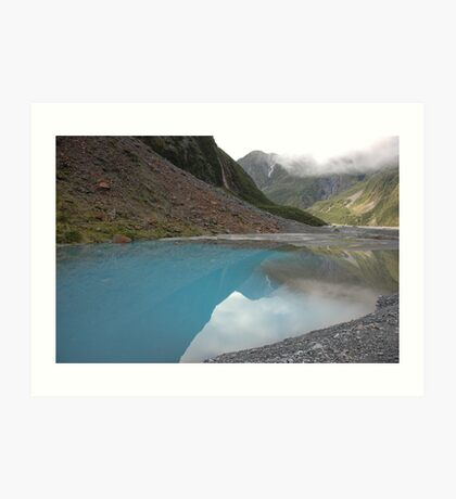 Glacial meltwater from Fox Glacier, South Island, NZ Art Print