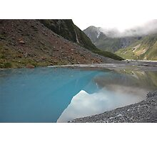Glacial meltwater from Fox Glacier, South Island, NZ Photographic Print