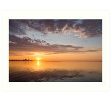 Golden Pink Toronto Sunrise Art Print