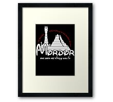 Mordor One Does Not Simply Walk in - Lord of the Rings Framed Print
