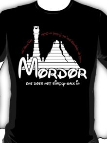 Mordor One Does Not Simply Walk in - Lord of the Rings T-Shirt