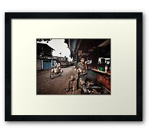 The Barber of Andheri Framed Print