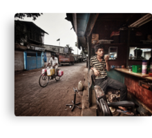 The Barber of Andheri Canvas Print