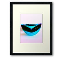 Retro Blue Framed Print