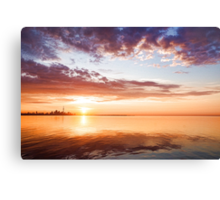 Pink and Gold Morning Zen - Toronto Skyline Impressions Canvas Print