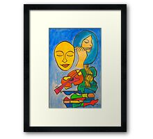 Playing Blue Framed Print