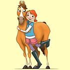 Gallop and Daisy by AParry