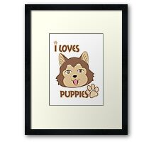 Brown Eyes Puppie Framed Print