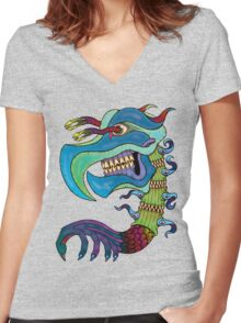 Bizzarlybeast Women's Fitted V-Neck T-Shirt