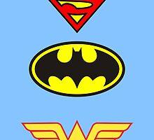 Superman, Batman, Wonder Woman - The Trinity by AvatarSkyBison