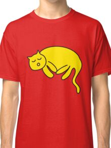 Yellow Cat sleeping Classic T-Shirt
