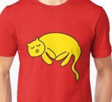 Yellow Cat sleeping Unisex T-Shirt